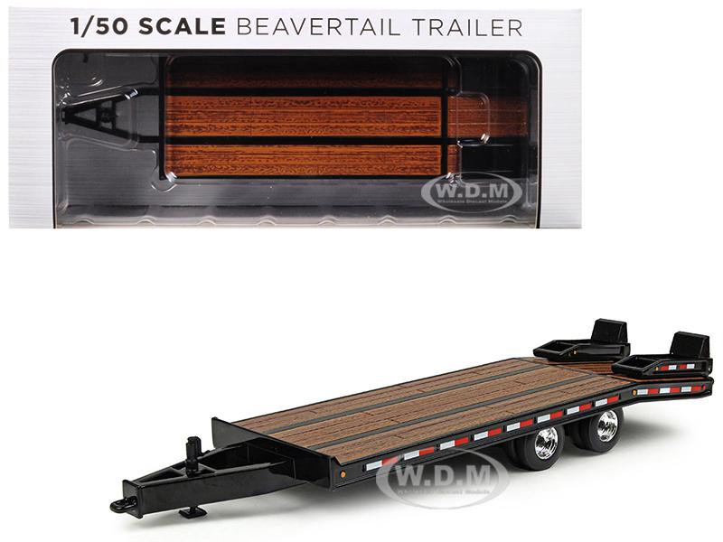 Beavertail Trailer Black 1/50 Diecast Model by First Gear