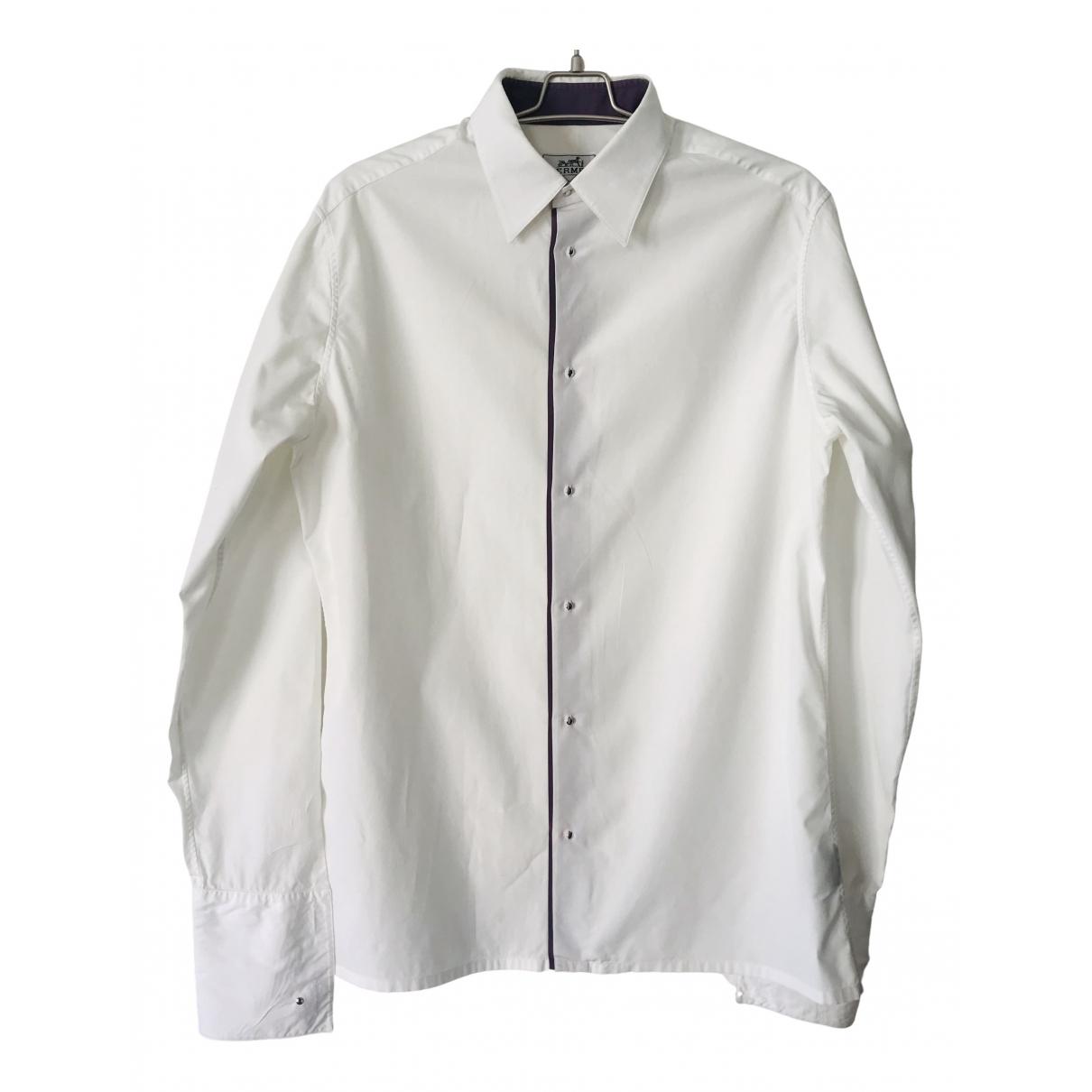 Hermes - Chemises   pour homme en coton - blanc