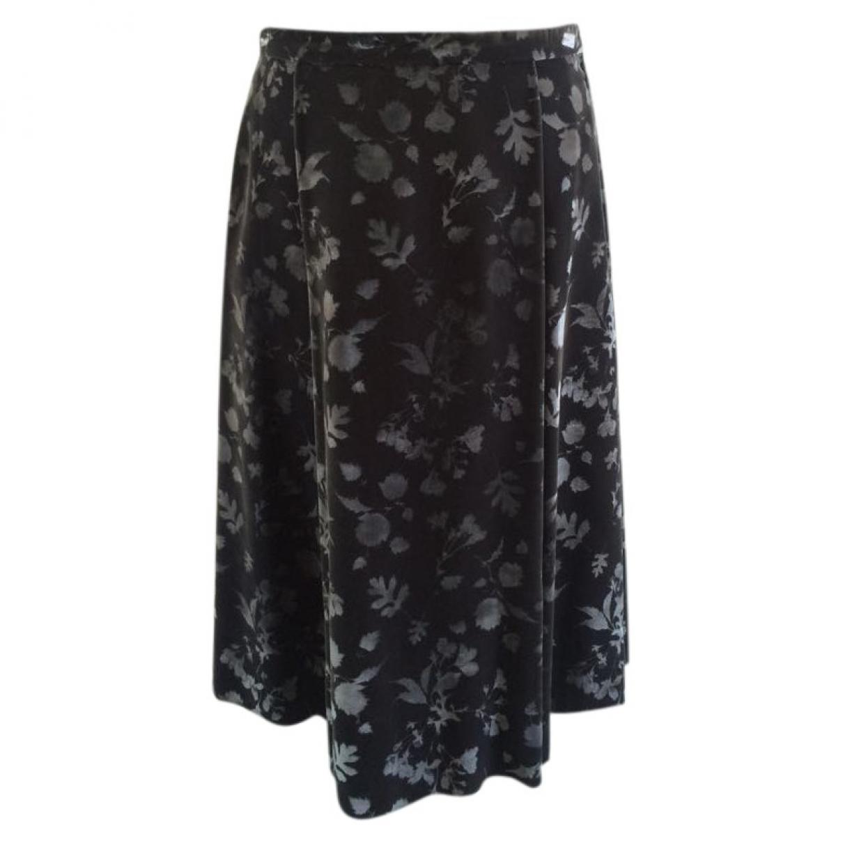 Non Signé / Unsigned \N Grey Velvet skirt for Women 46 IT