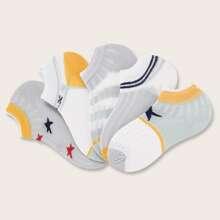 5 pares calcetines de color combinado