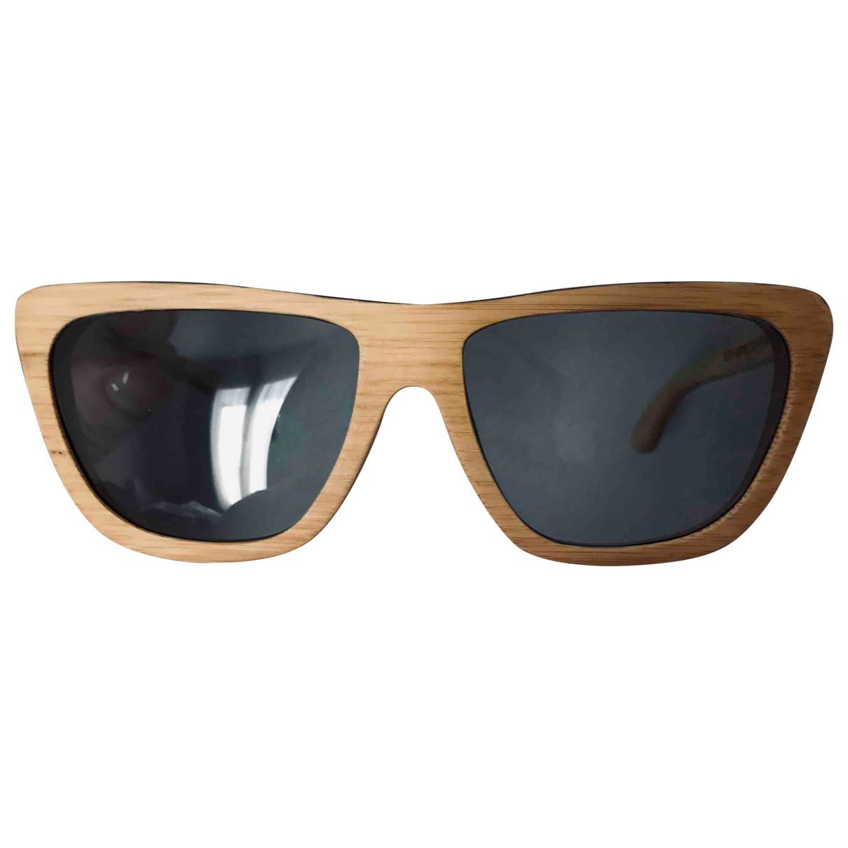 Waiting For The Sun \N Beige Wood Sunglasses for Women \N