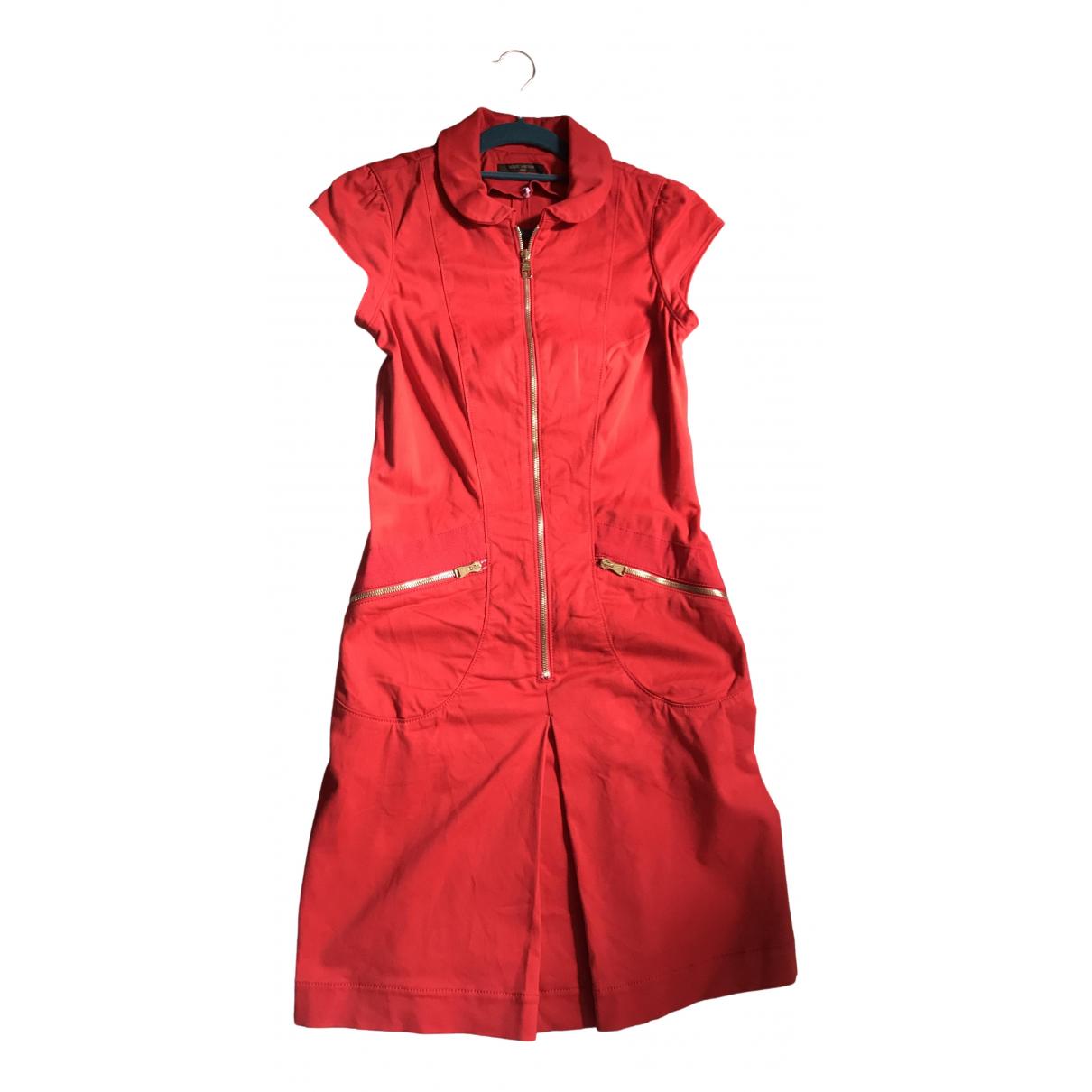 Louis Vuitton \N Kleid in  Rot Baumwolle