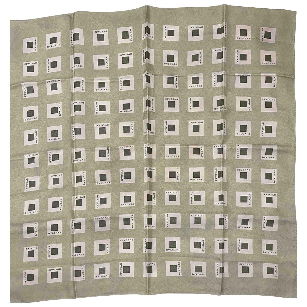 Bvlgari - Foulard   pour femme en soie - vert