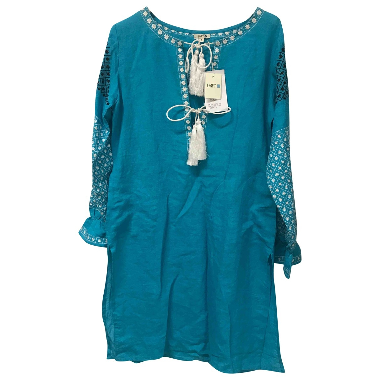 Non Signé / Unsigned \N Blue Linen dress for Women S International
