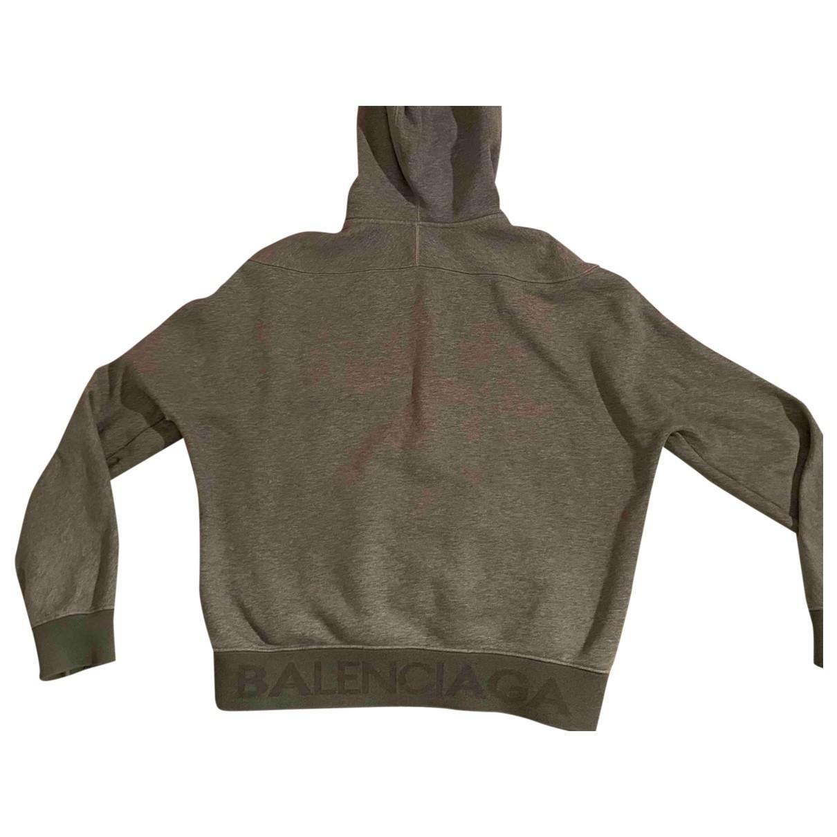 Balenciaga \N Pullover.Westen.Sweatshirts  in  Grau Baumwolle