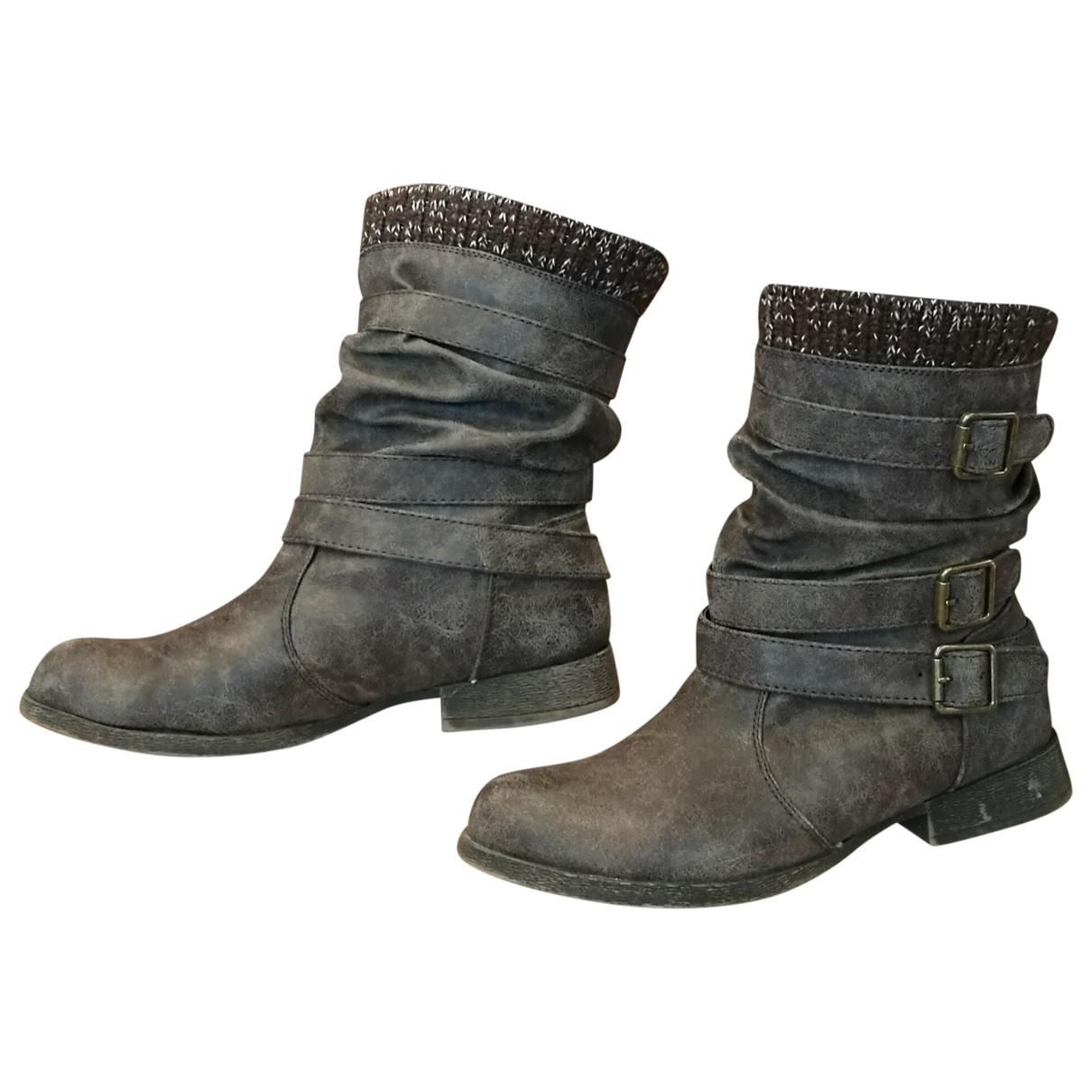 Zara - Boots   pour femme en a paillettes - anthracite