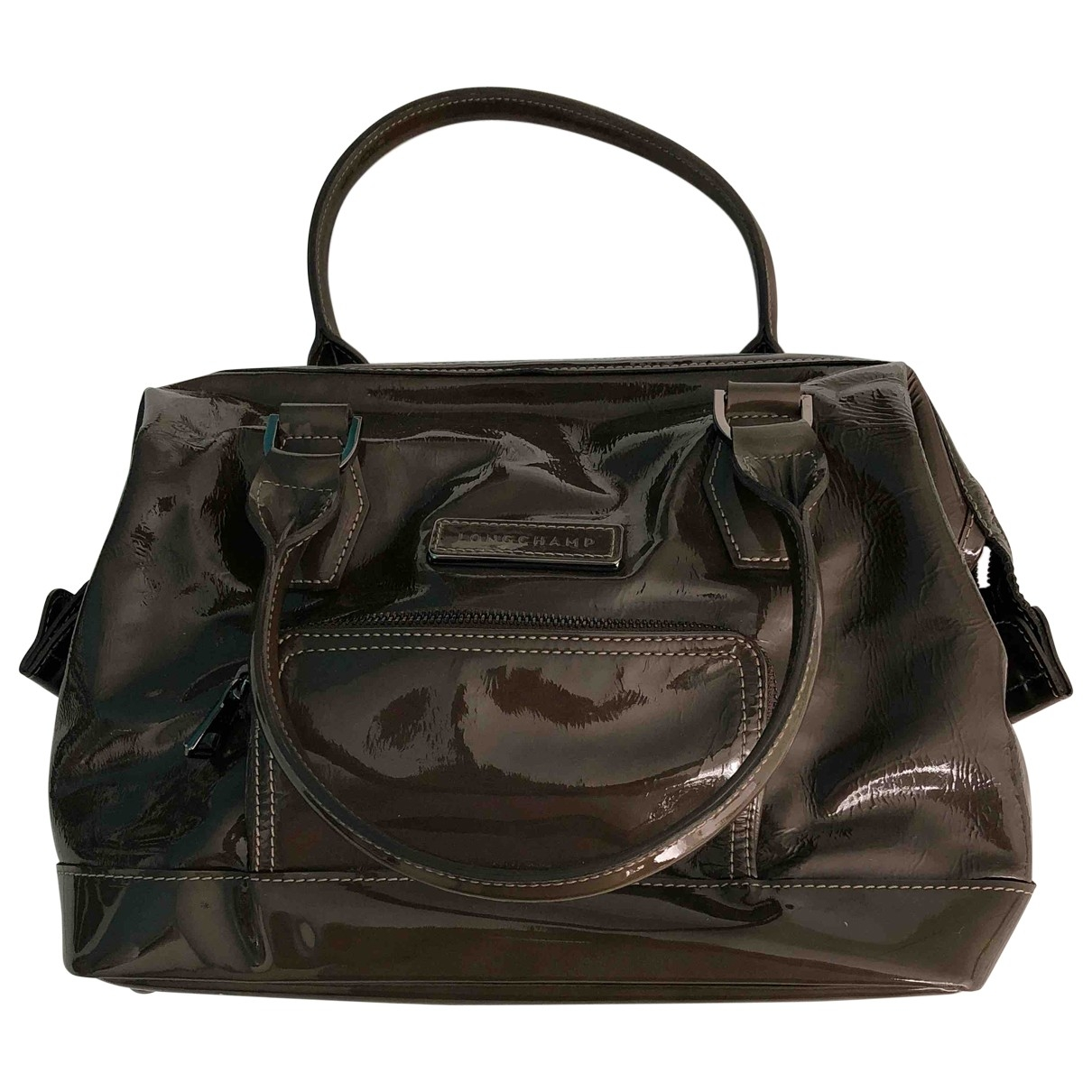 Longchamp Légende Brown Patent leather handbag for Women \N