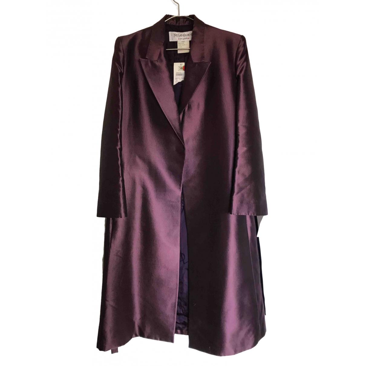 Yves Saint Laurent \N Metallic Silk jacket for Women 36 FR