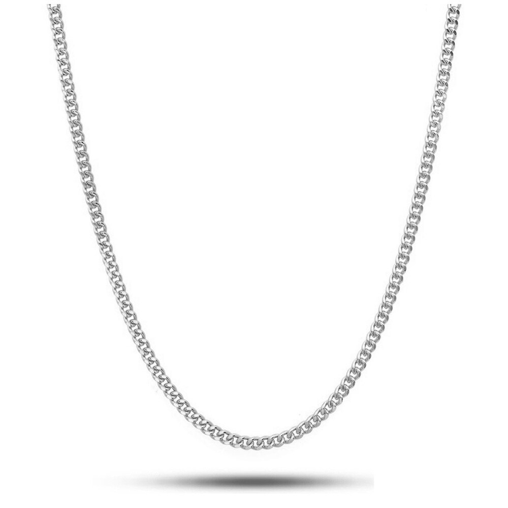 Pori Jewelers 925 Sterling Silver  High Polished  1.7MM Cuban 050 Chain necklace (20 Inch)