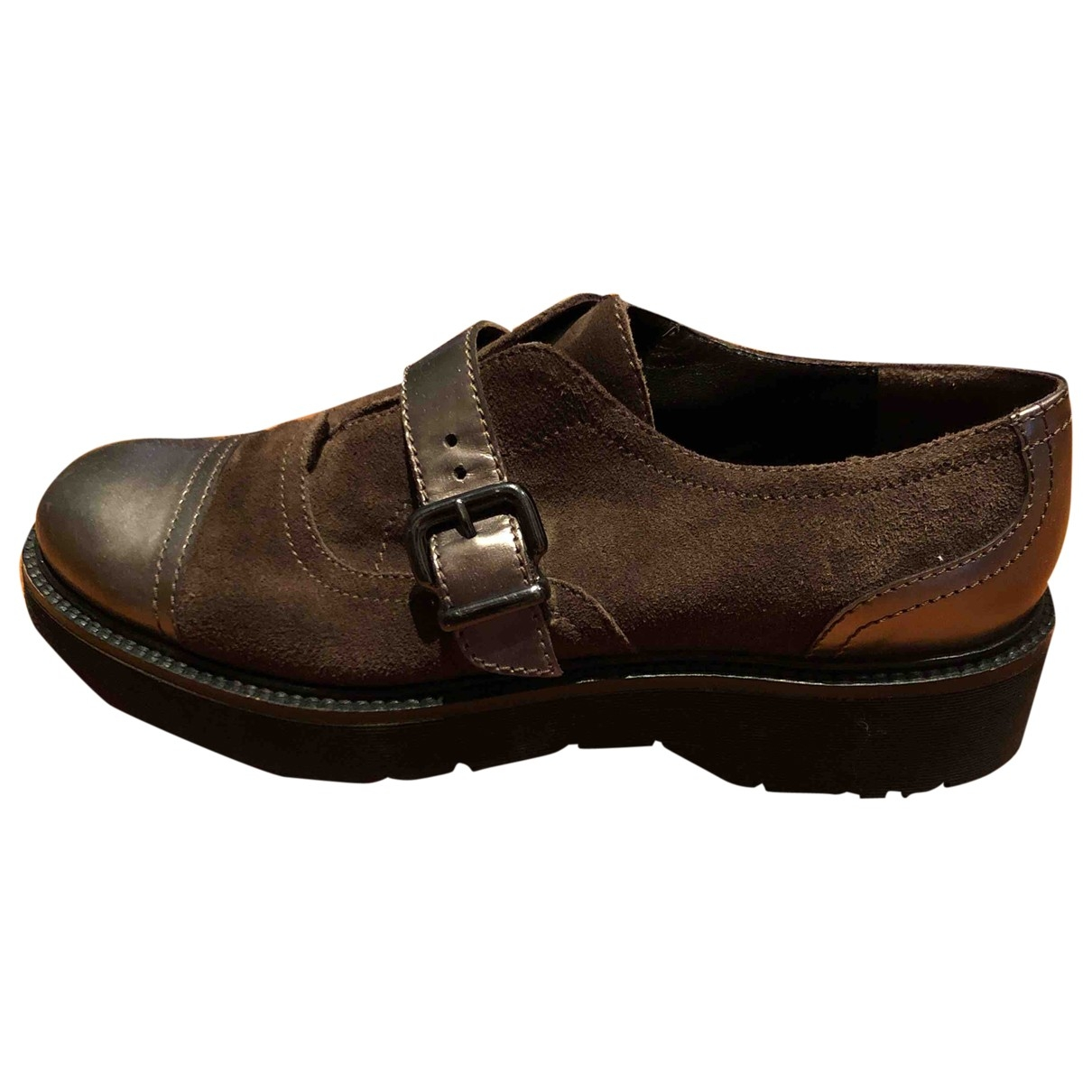 Non Signé / Unsigned \N Brown Leather Ankle boots for Women 38 IT