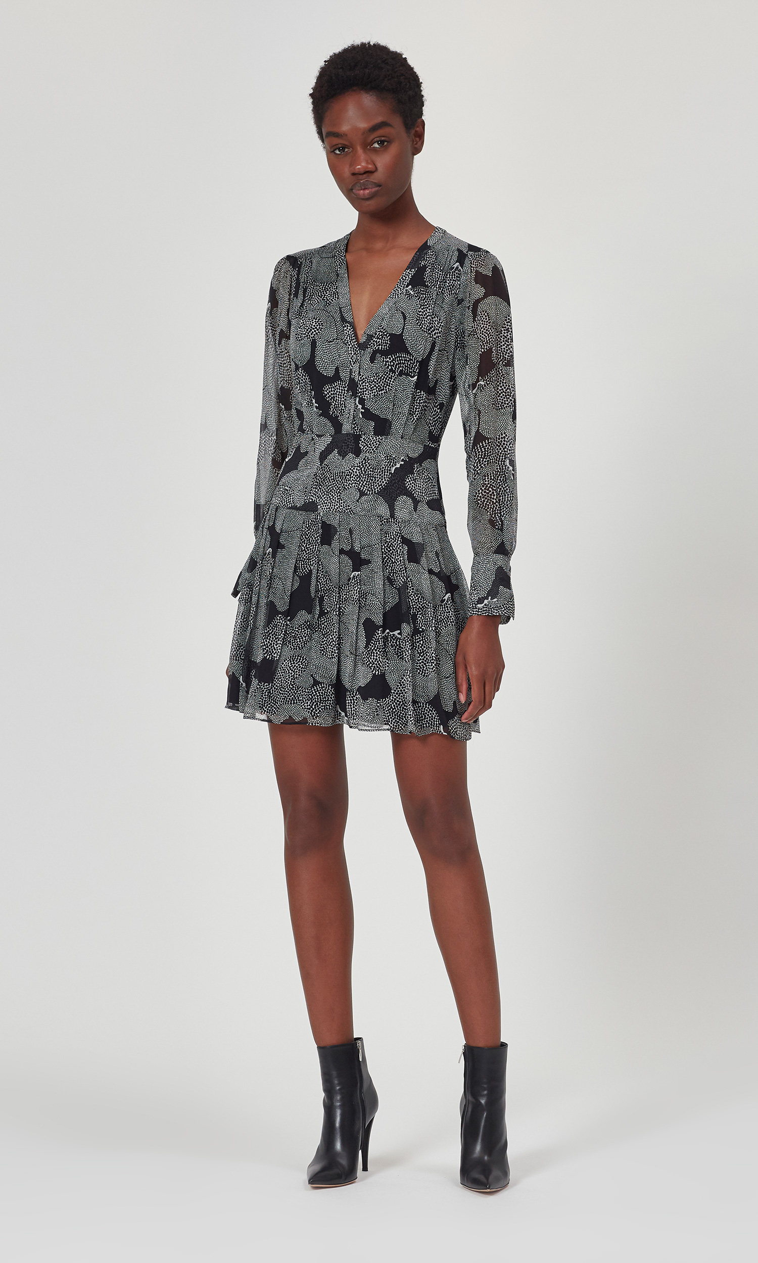 Long Sleeve Silk Lisle Dress by Equipment