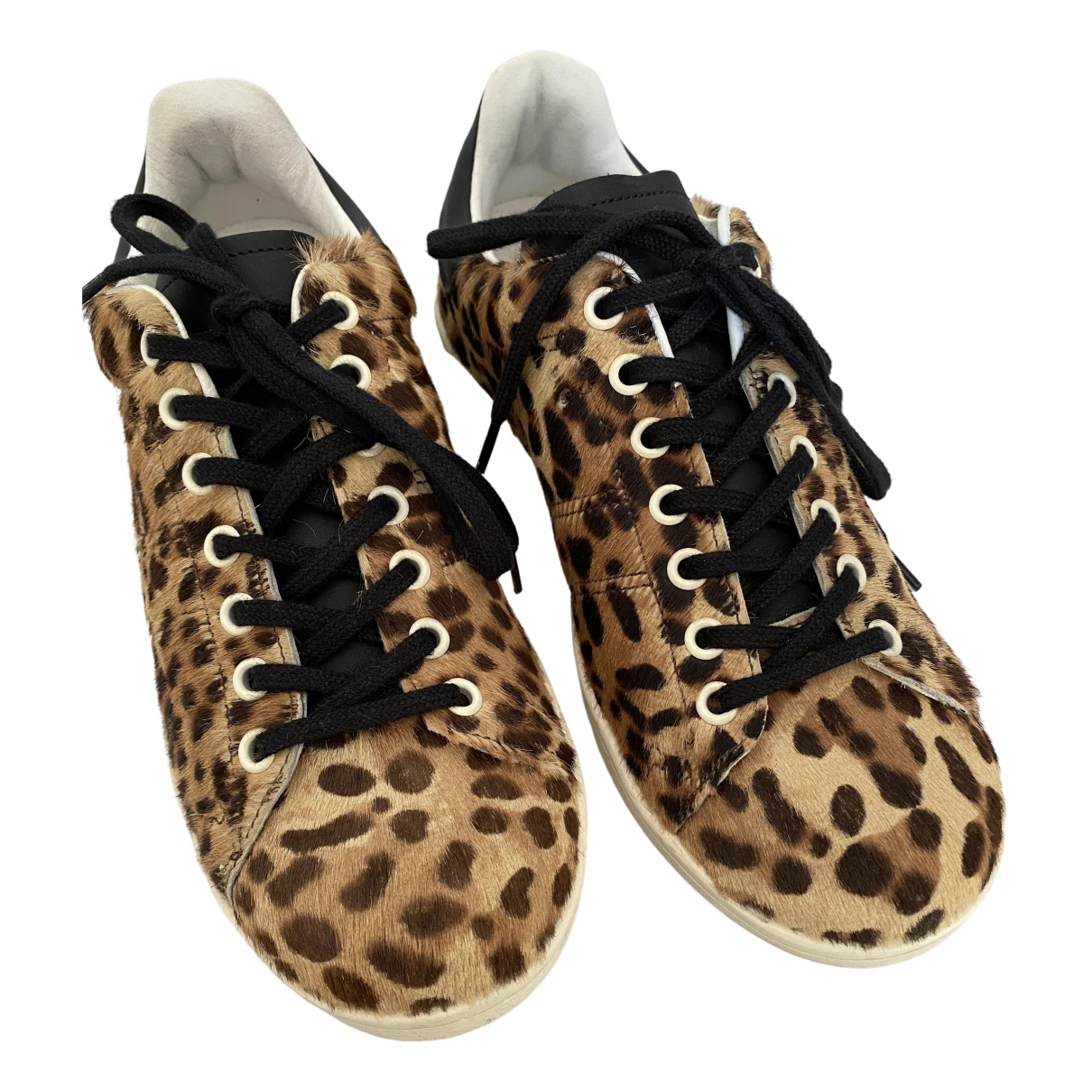 Isabel Marant Bart Brown Leather Trainers for Women 38 EU