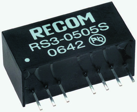 Recom RS3 3W Isolated DC-DC Converter Through Hole, Voltage in 36 → 72 V dc, Voltage out 5V dc