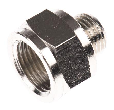 Legris LF3000 60 bar Brass Pneumatic Straight Threaded Adapter, G 1/4 Male To G 3/8 Female (5)