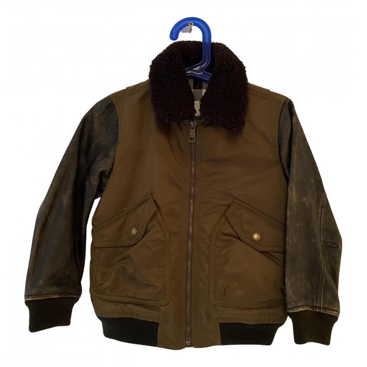 Burberry - Blousons.Manteaux   pour enfant en cuir - marron