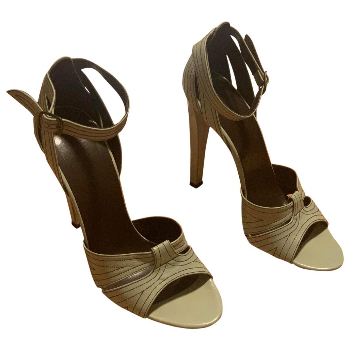 Balenciaga \N Green Leather Sandals for Women 40.5 EU