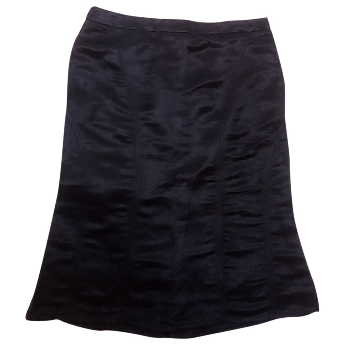 Etro \N Black Linen skirt for Women 40 IT