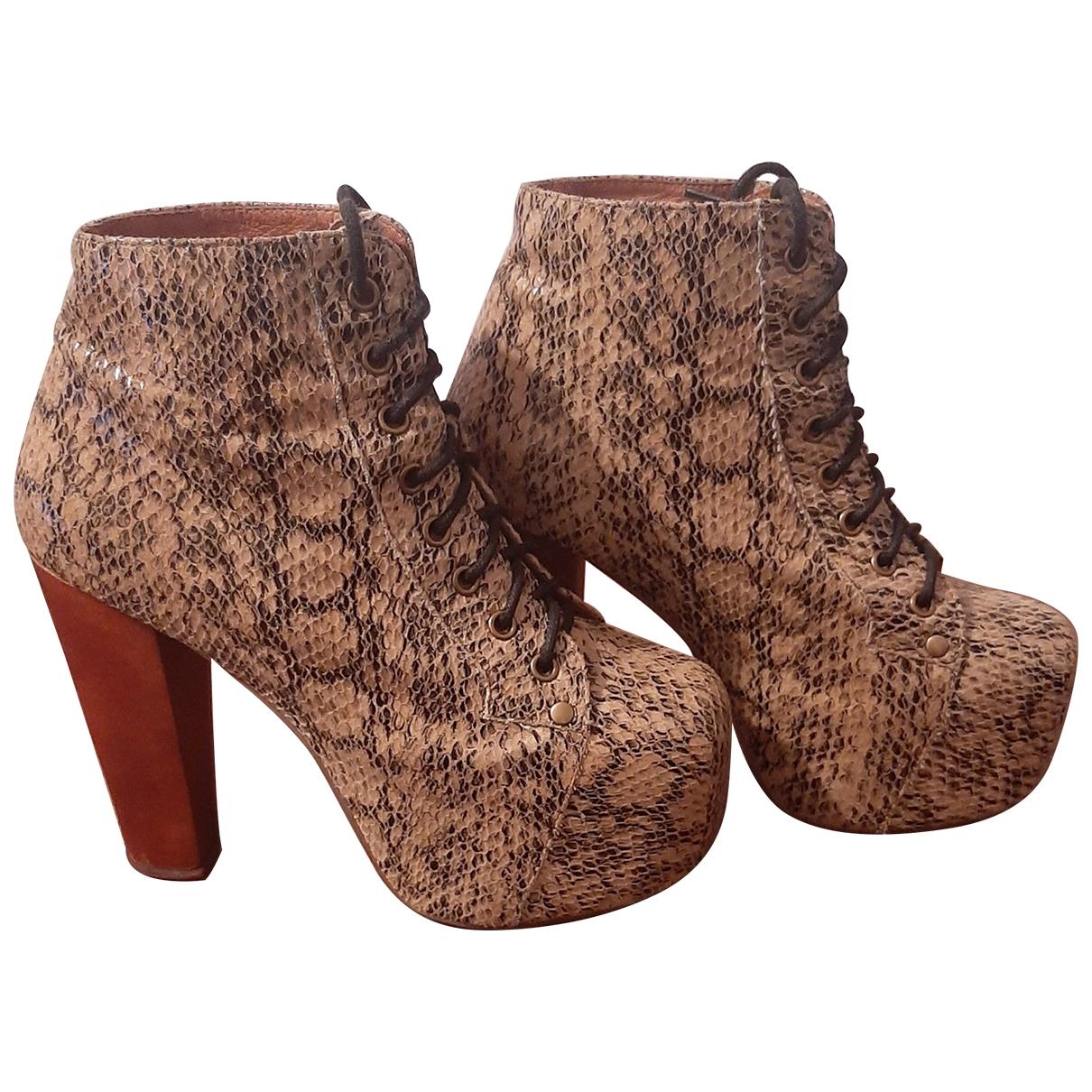 Jeffrey Campbell - Boots   pour femme en cuir