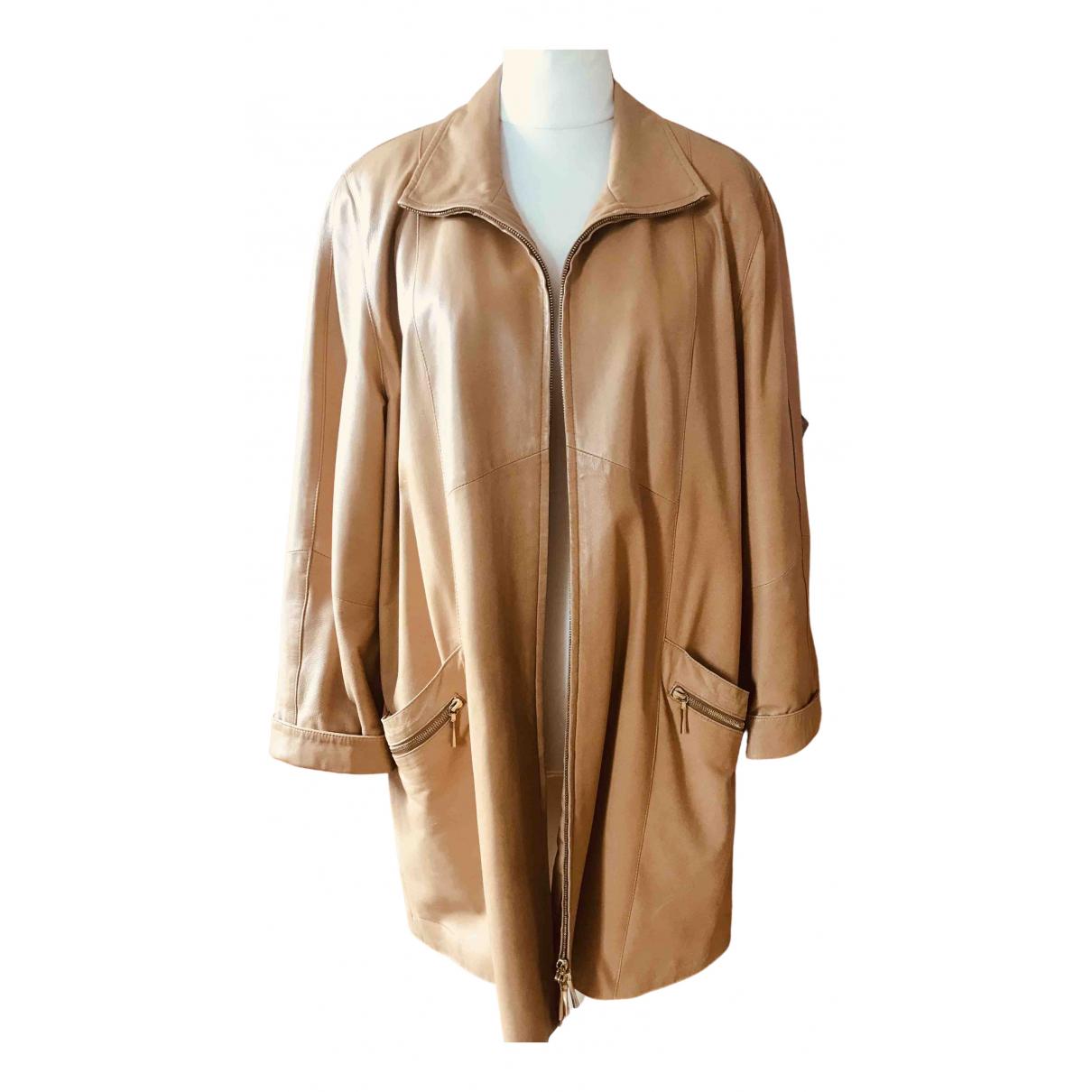 - Manteau   pour femme en cuir - dore