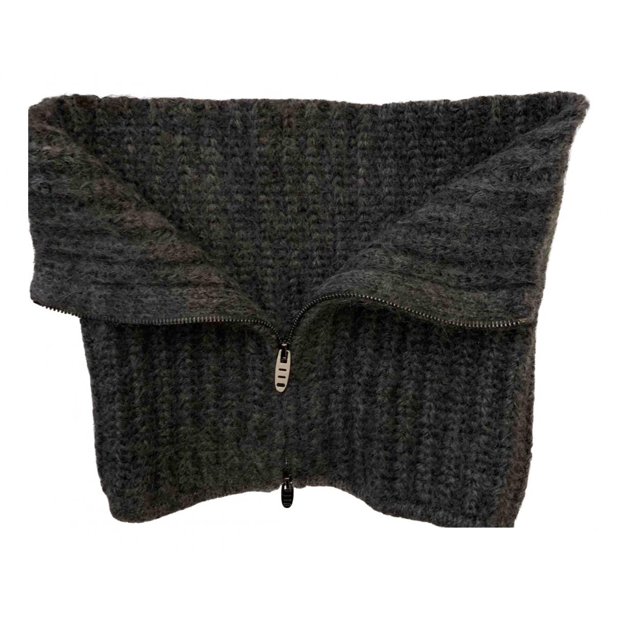 Ermanno Scervino - Foulard   pour femme en cachemire - gris