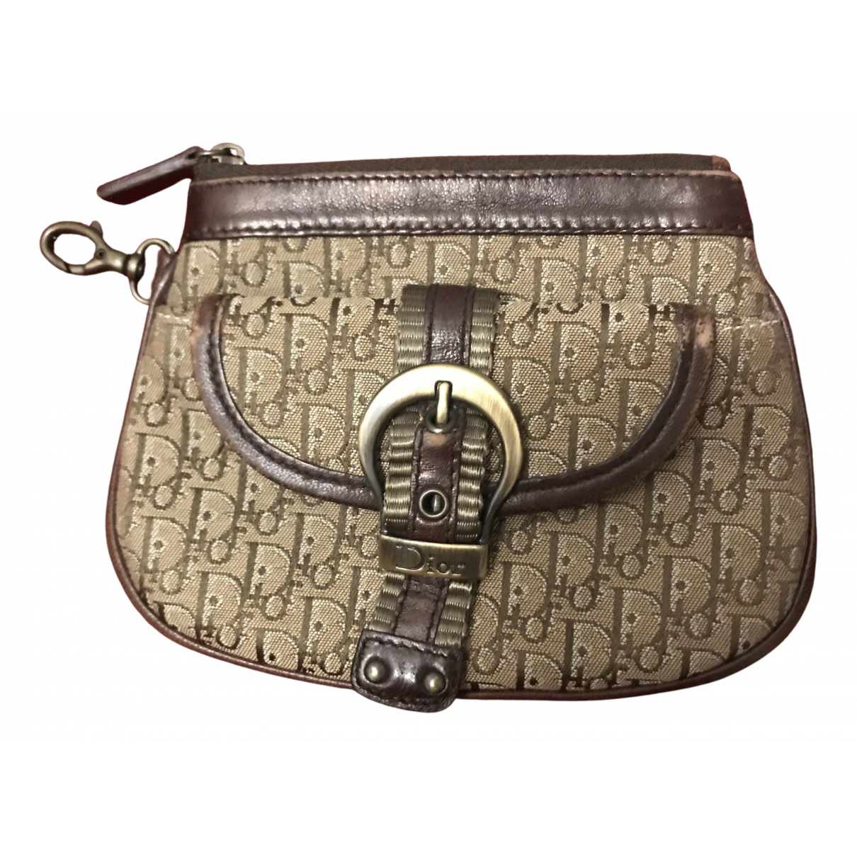 Dior N Brown Cloth Purses, wallet & cases for Women N