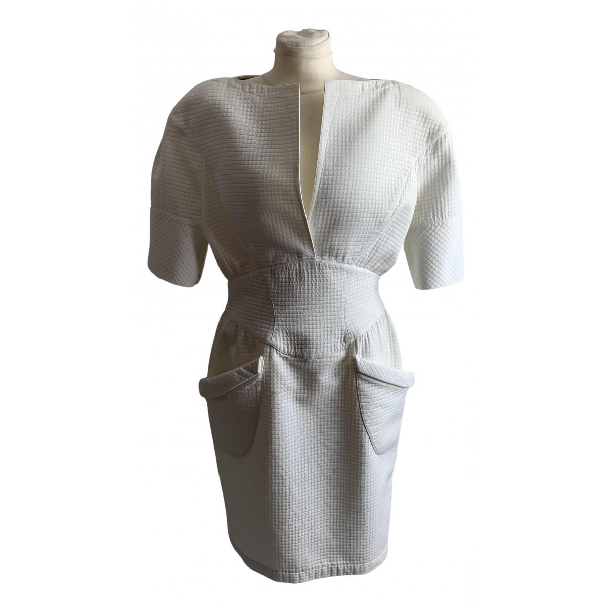 Thierry Mugler \N White Cotton dress for Women 42 FR