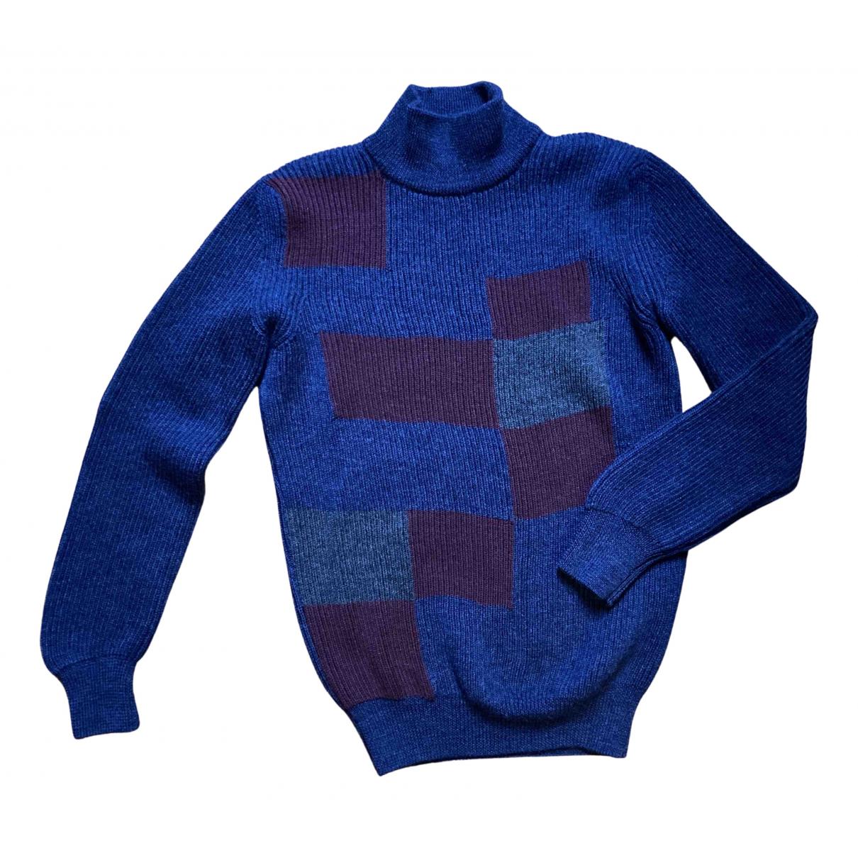 Bottega Veneta \N Pullover.Westen.Sweatshirts  in  Blau Wolle
