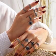 Set de anillo bohemio 14 piezas