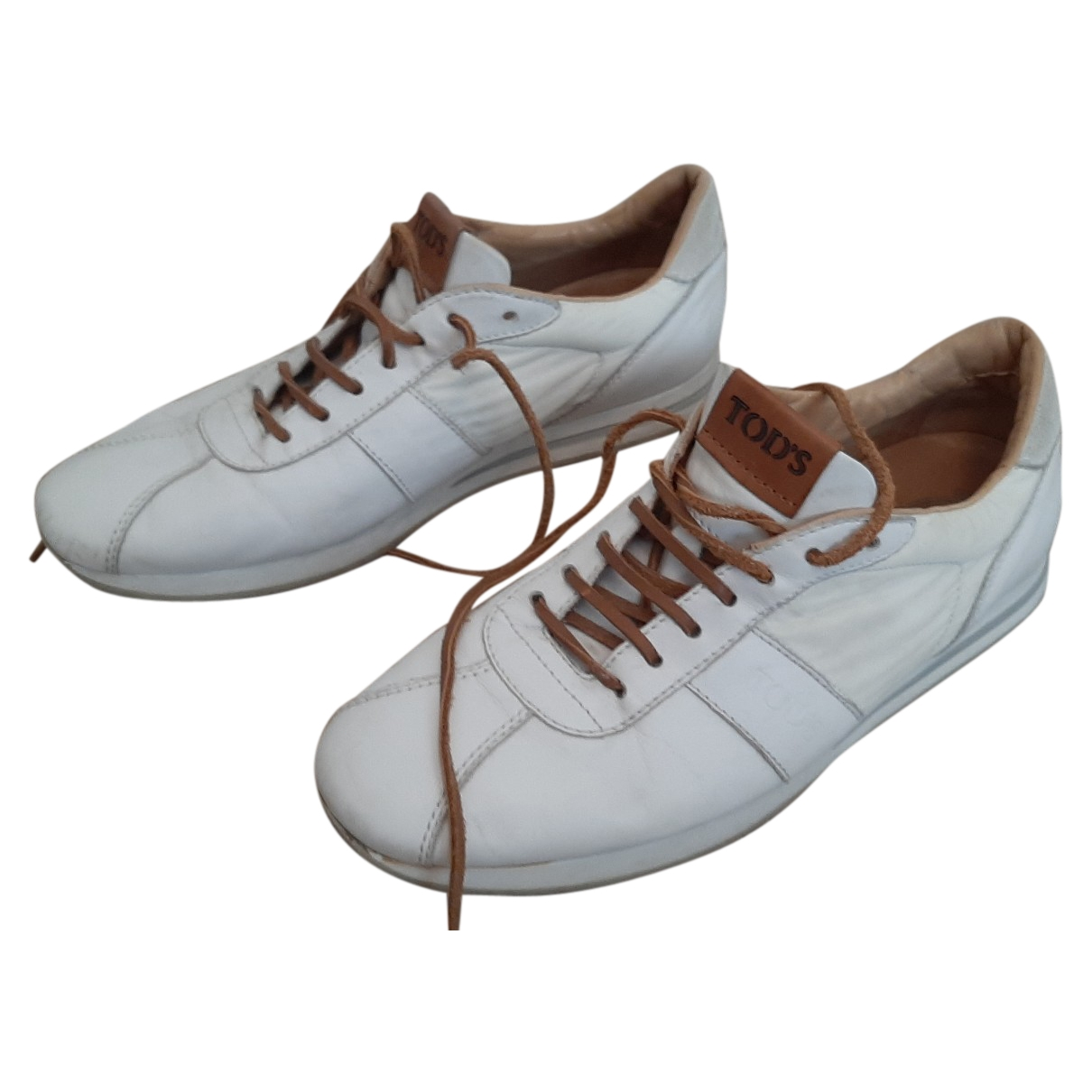 Tod's \N White Leather Trainers for Men 7.5 UK