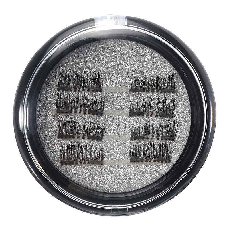 8Pcs/2 Pairs Magnetic 3D False Eyelashes Long Natural Eyelash Extension For Eye Makeup Beauty