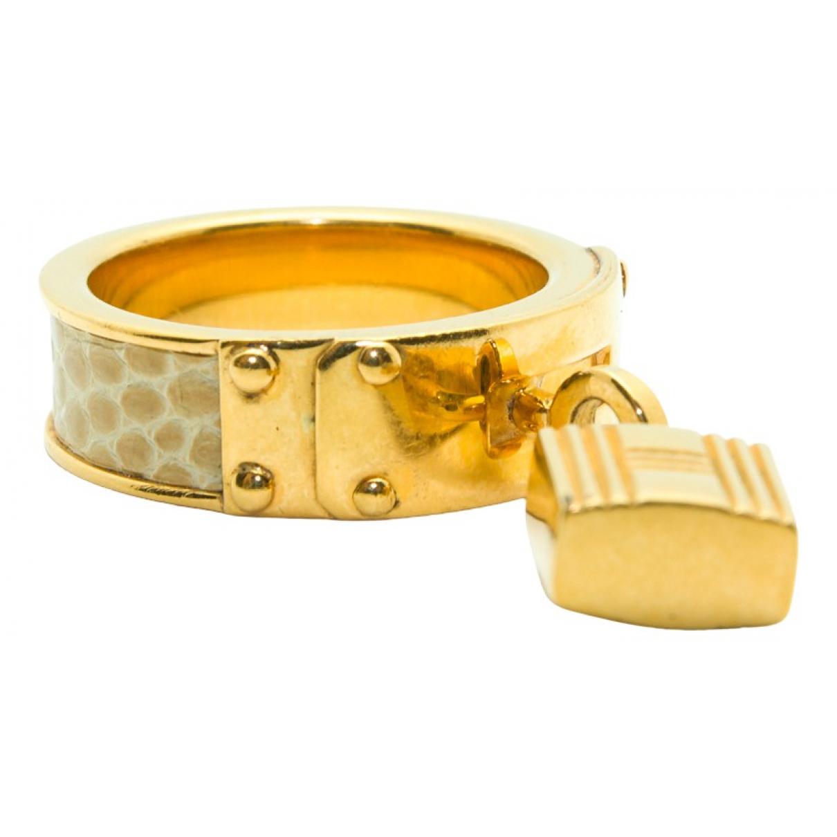 Hermes Cadenas Ring in  Gold Metall