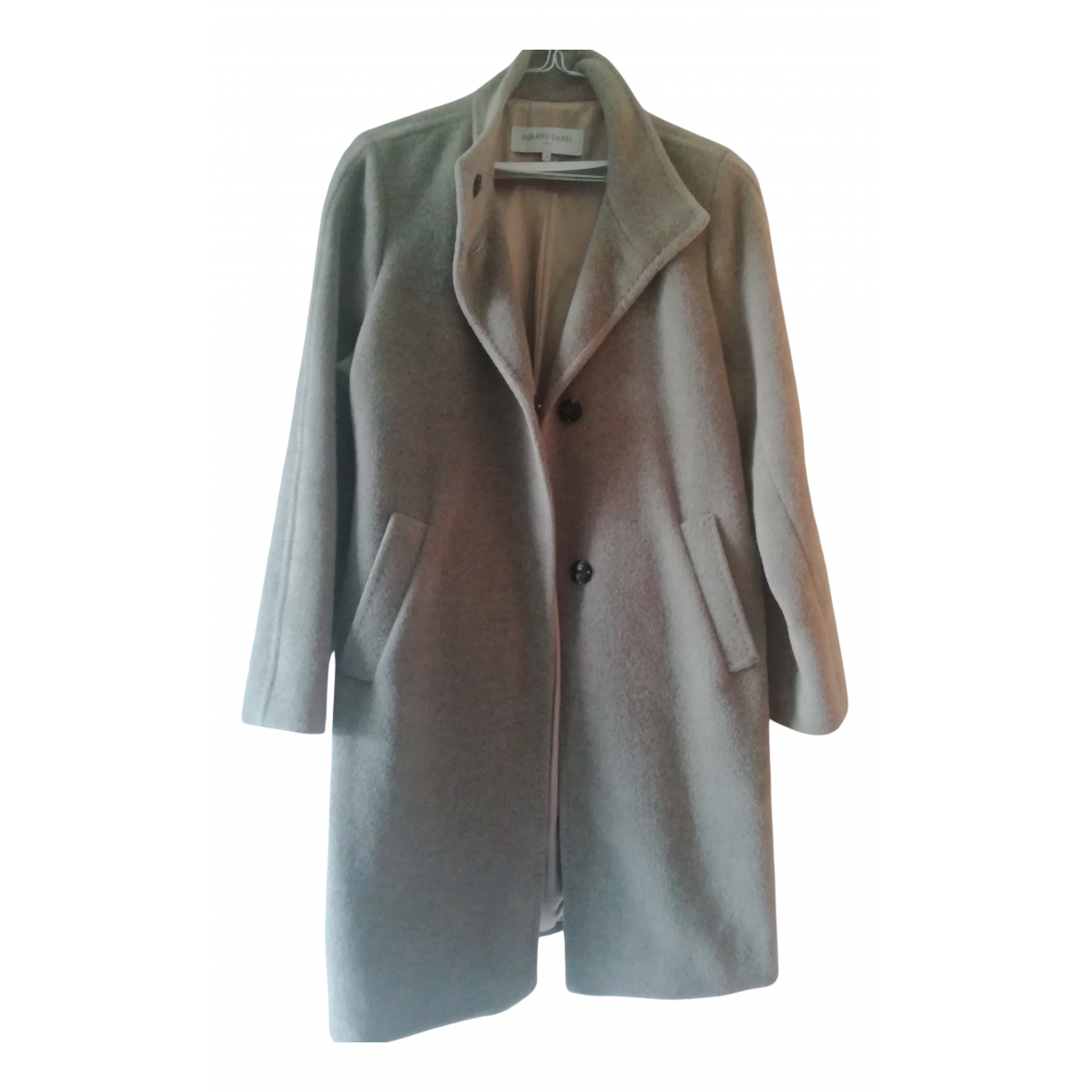 Gerard Darel - Manteau   pour femme en laine - gris