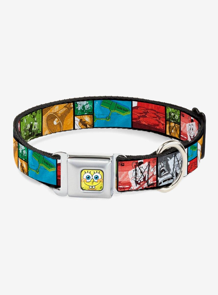 Spongebob Squarepants Krusty Krabs Cam Scene Dog Collar Seatbelt Buckle