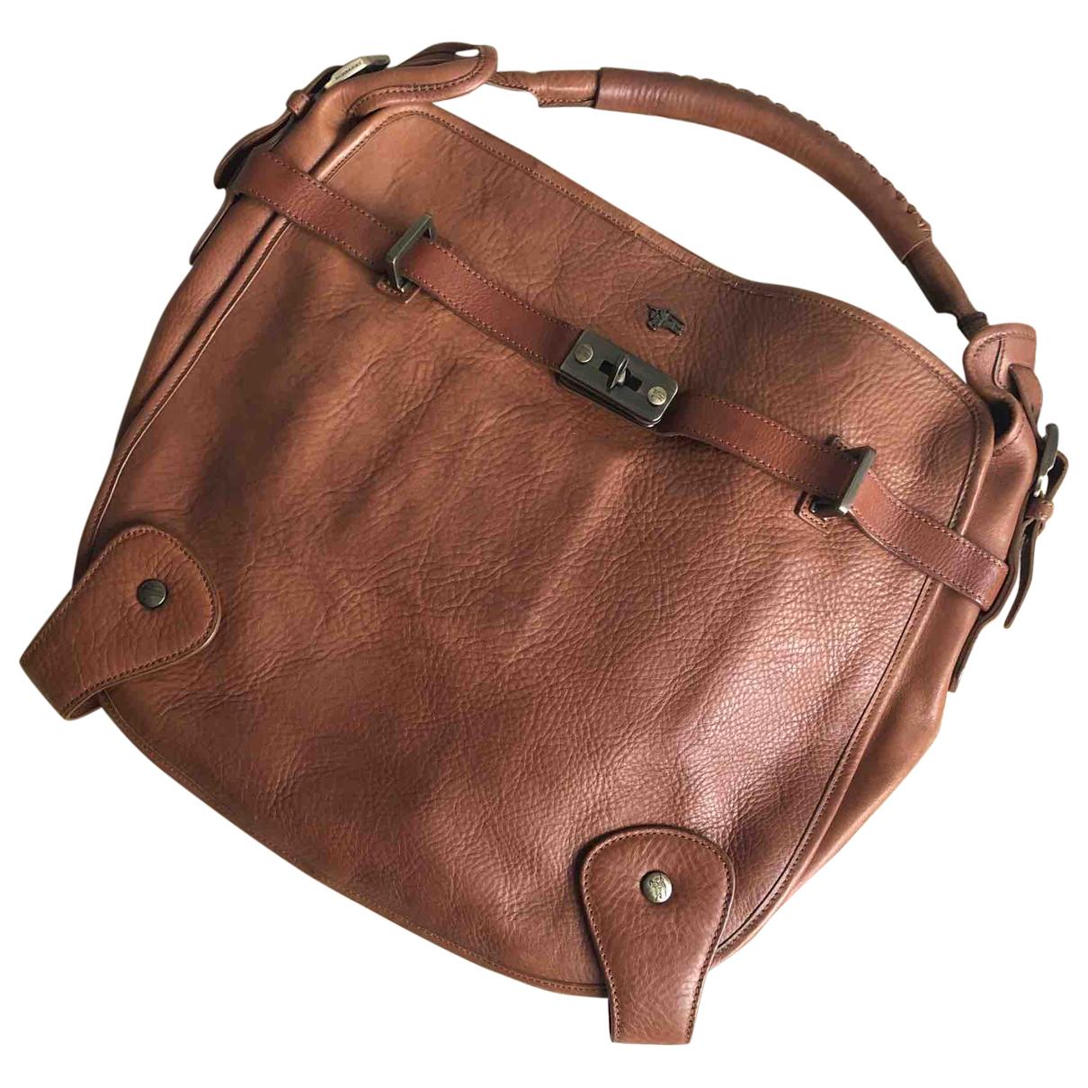 Burberry N Camel Leather handbag for Women N