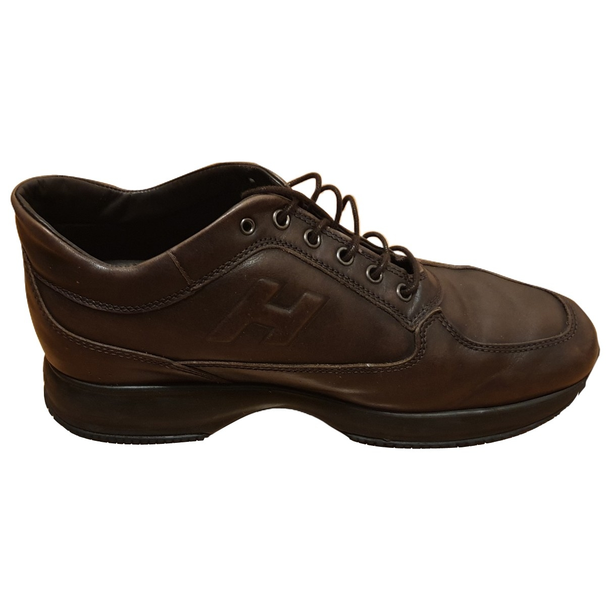 Hogan \N Brown Leather Trainers for Men 43 EU
