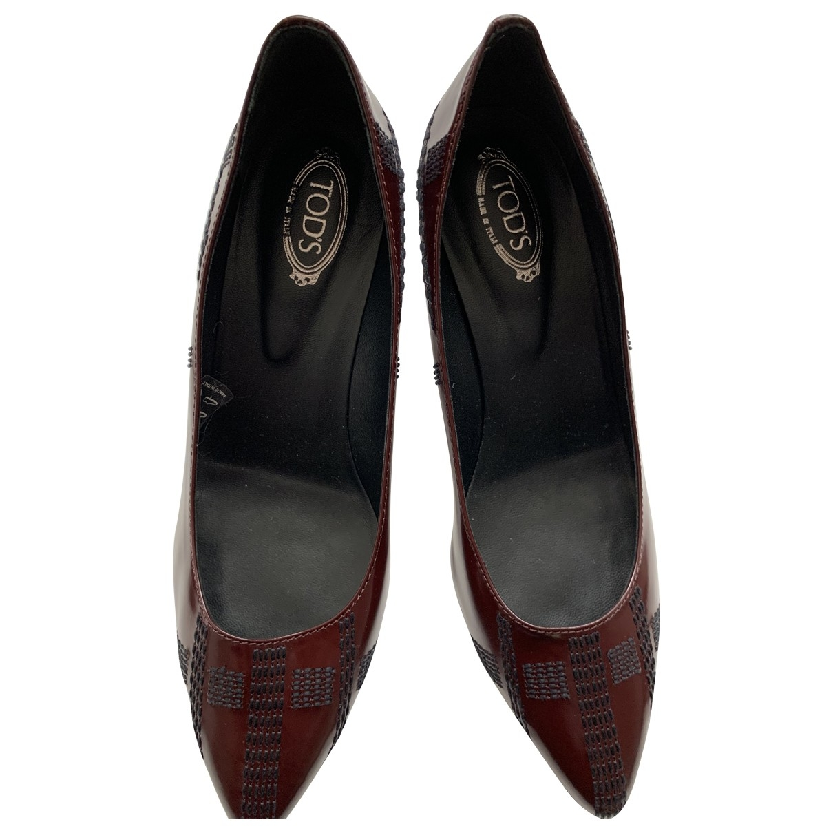Tod's \N Burgundy Patent leather Heels for Women 37 EU