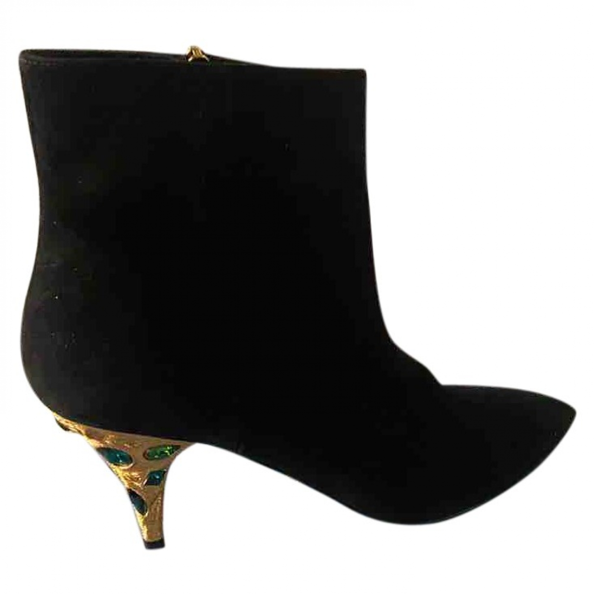 Prada \N Black Suede Ankle boots for Women 38.5 EU