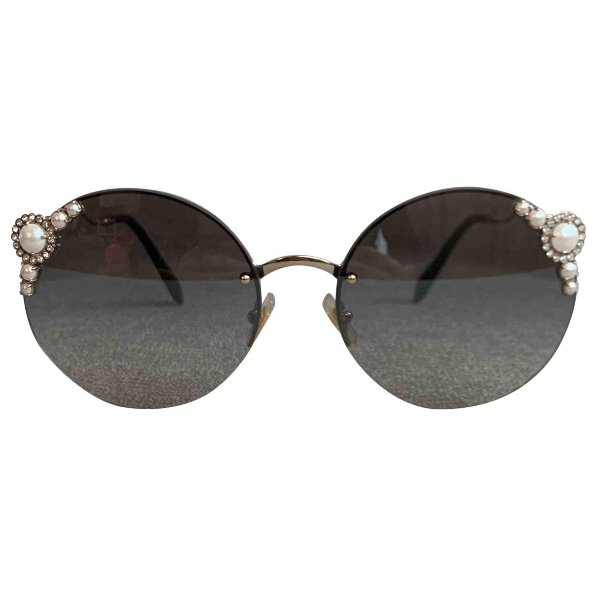 Miu Miu \N Sonnenbrillen in  Grau Metall