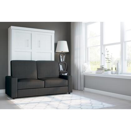 26720-000017 Pur by 2-Piece Full Wall Bed and Sofa Set in White &