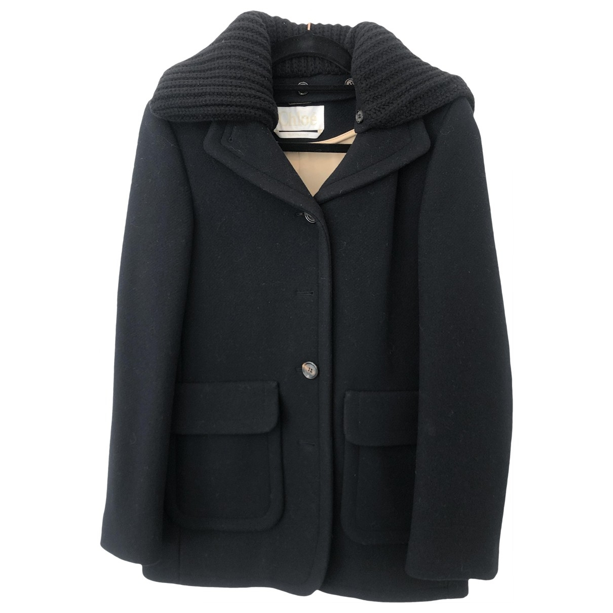 Chloé \N Navy Wool coat for Women 34 FR