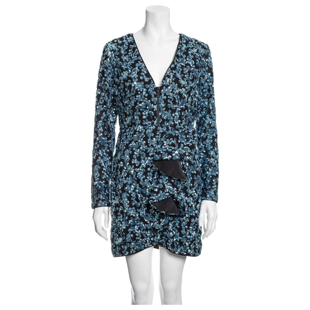 Self Portrait - Robe   pour femme en a paillettes - bleu