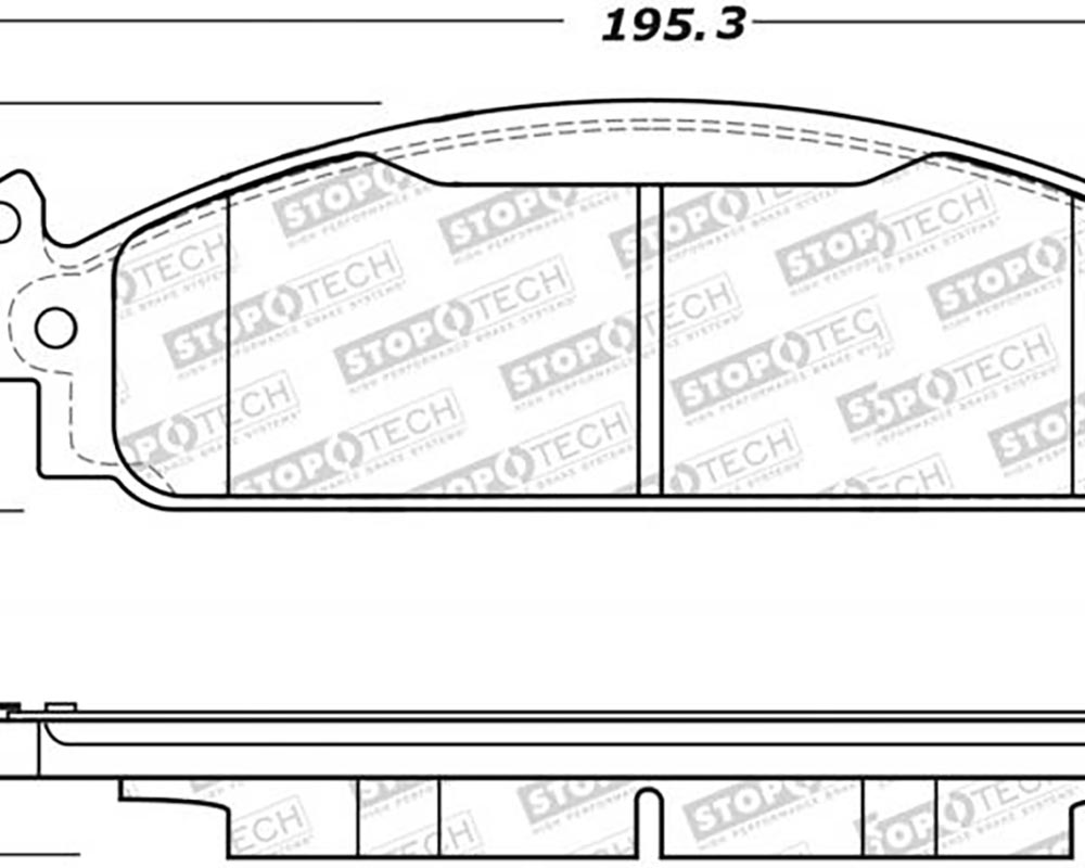 StopTech 305.1508 Street Select Brake Pads Front