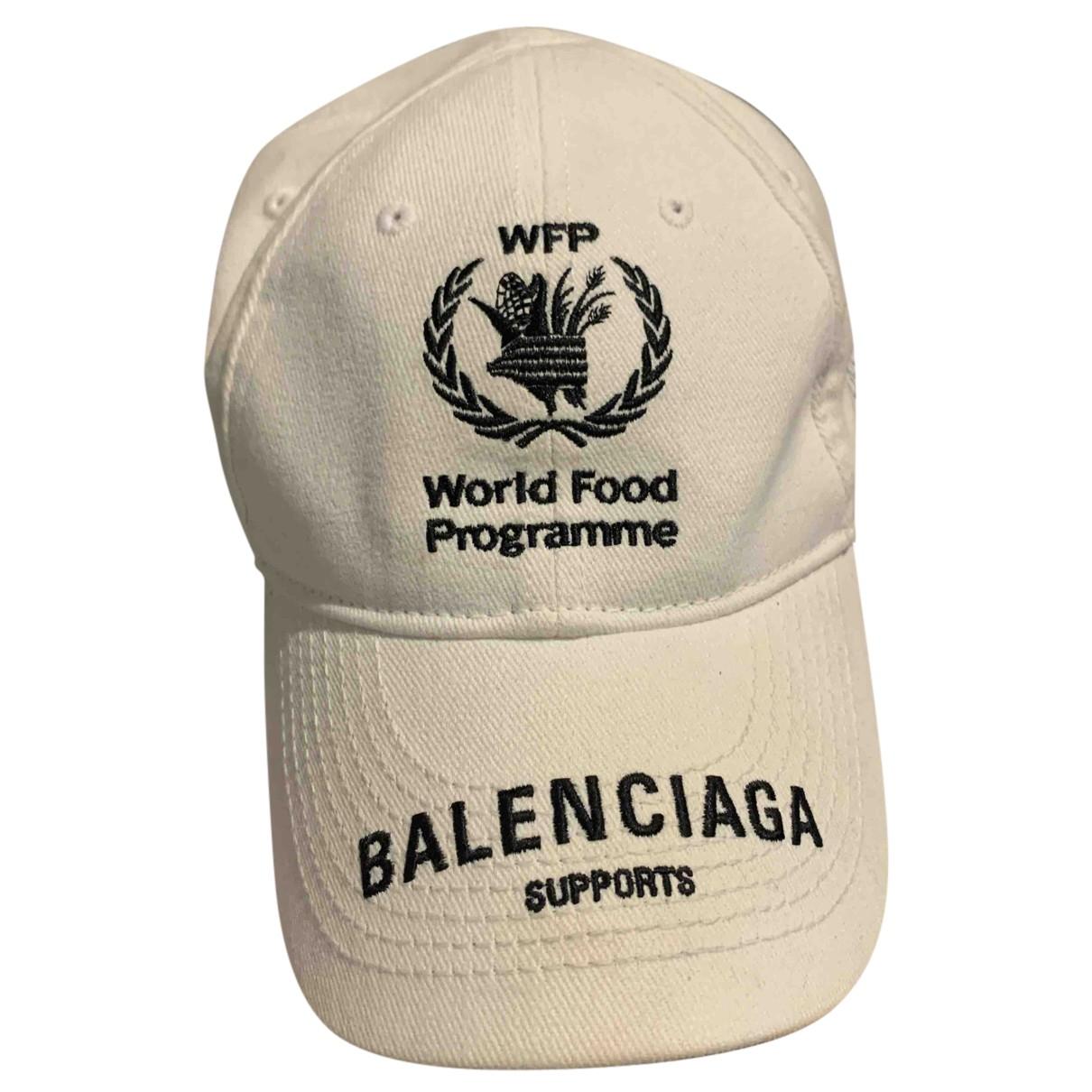 Balenciaga - Chapeau & Bonnets   pour homme en coton - blanc