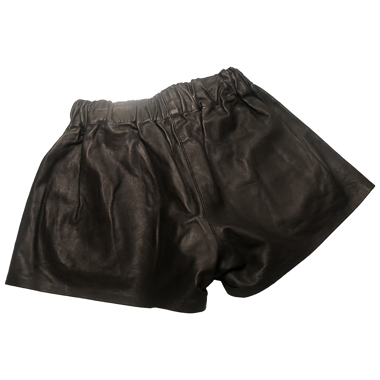 Rag & Bone \N Black Leather Shorts for Women S International