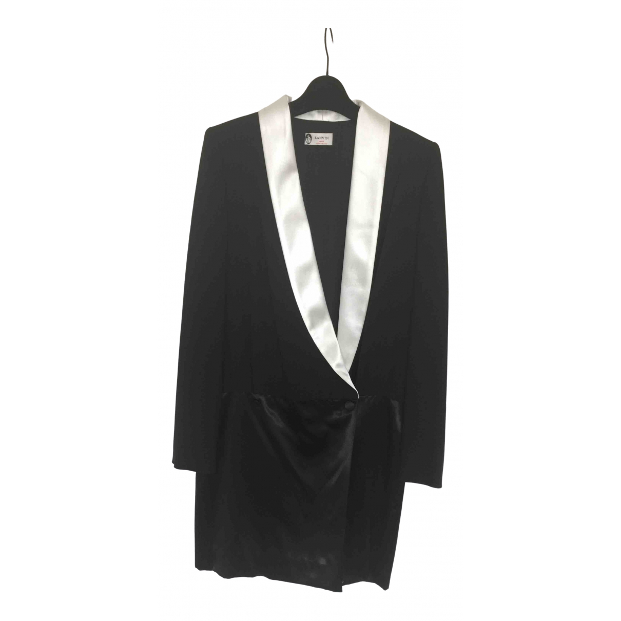 Lanvin \N Kleid in  Schwarz Viskose