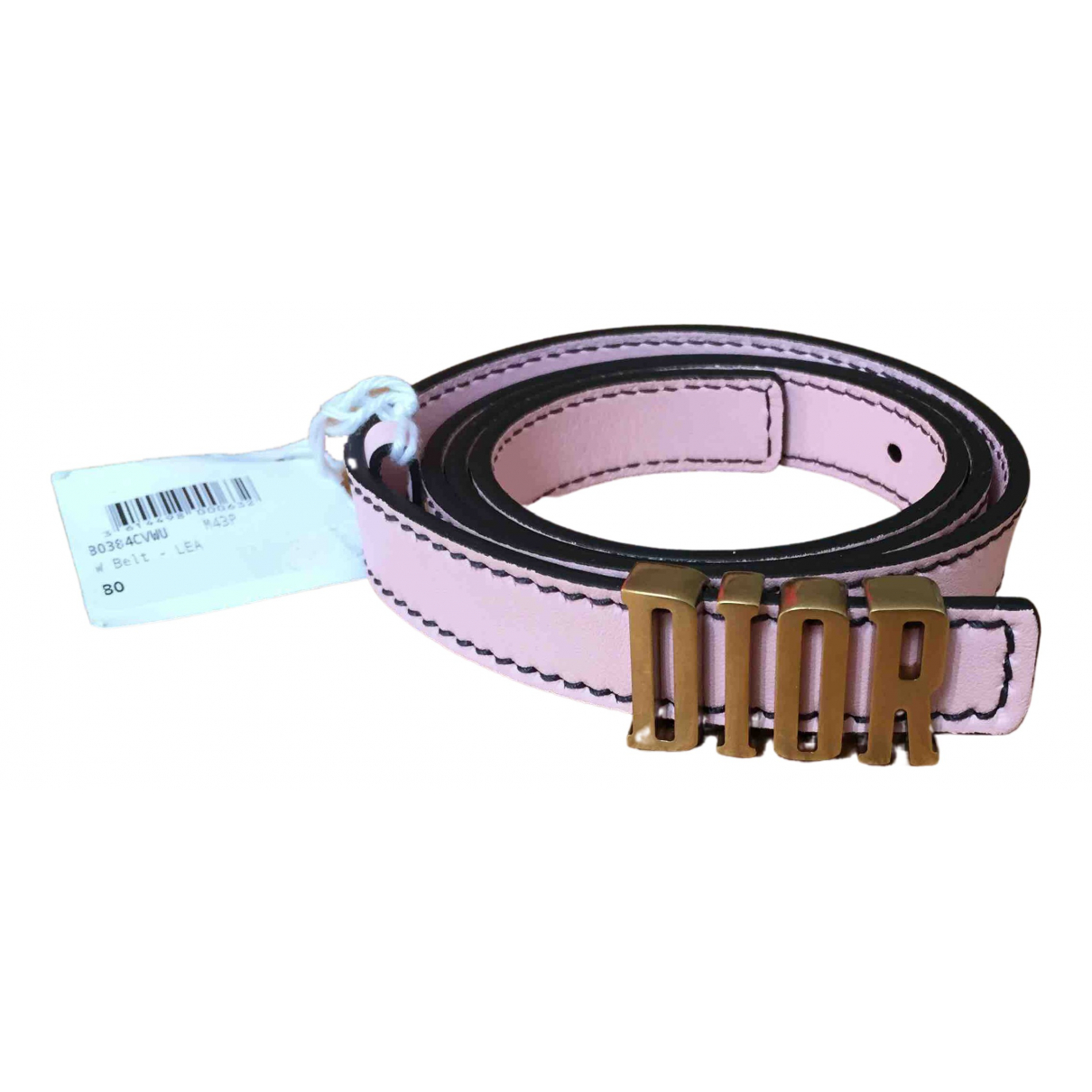 Dior D-Fence Pink Leather belt for Women 80 cm