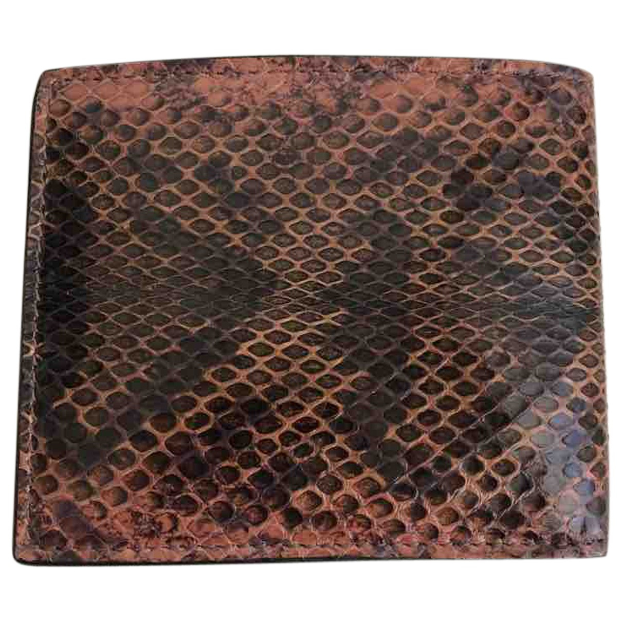 Gucci N Brown Python Small bag, wallet & cases for Men N
