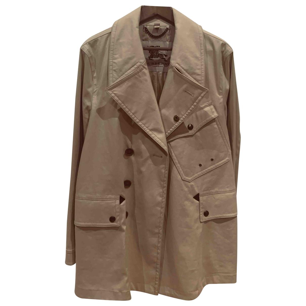 Burberry \N Beige Cotton coat  for Men 52 FR