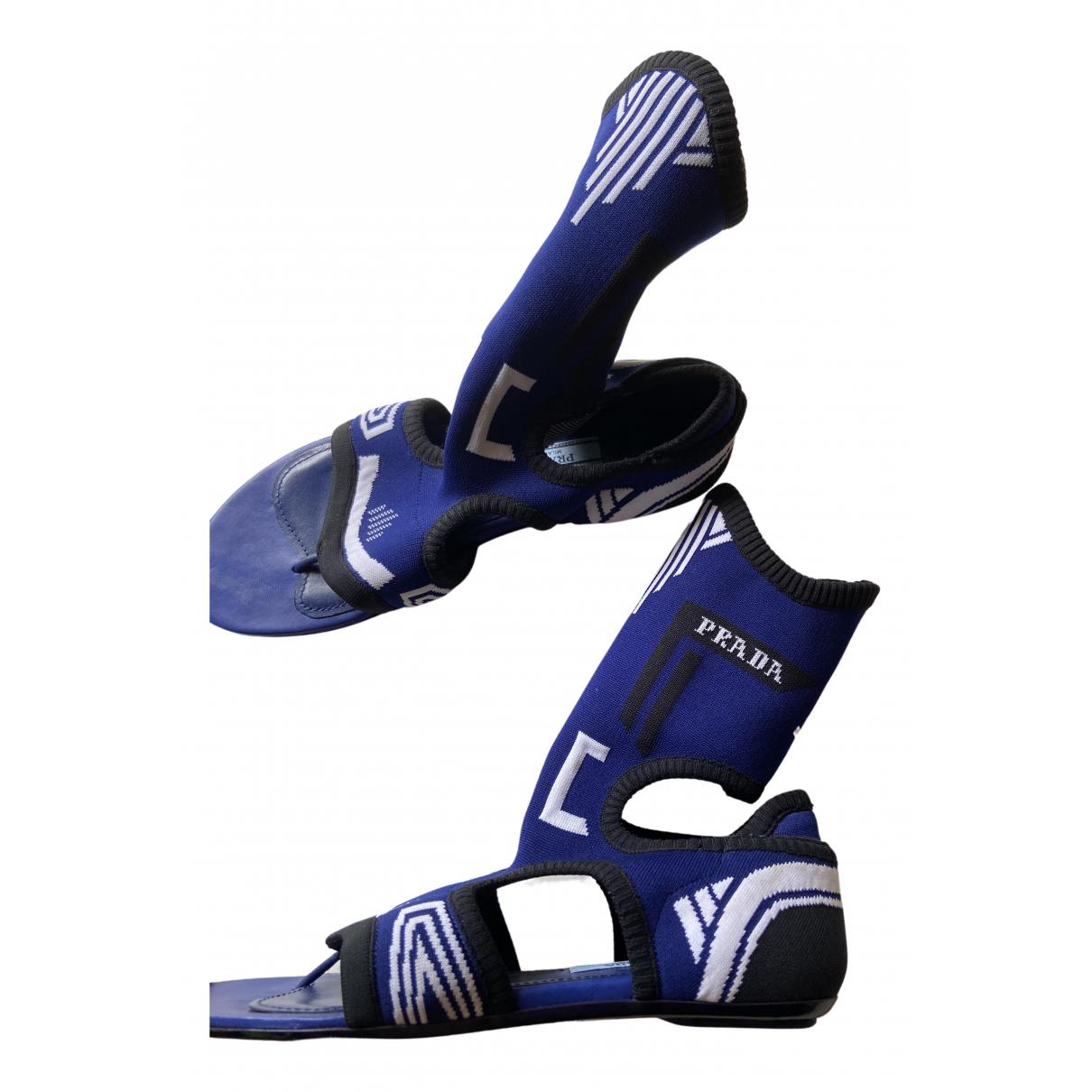 Prada \N Sandalen in  Blau Polyester