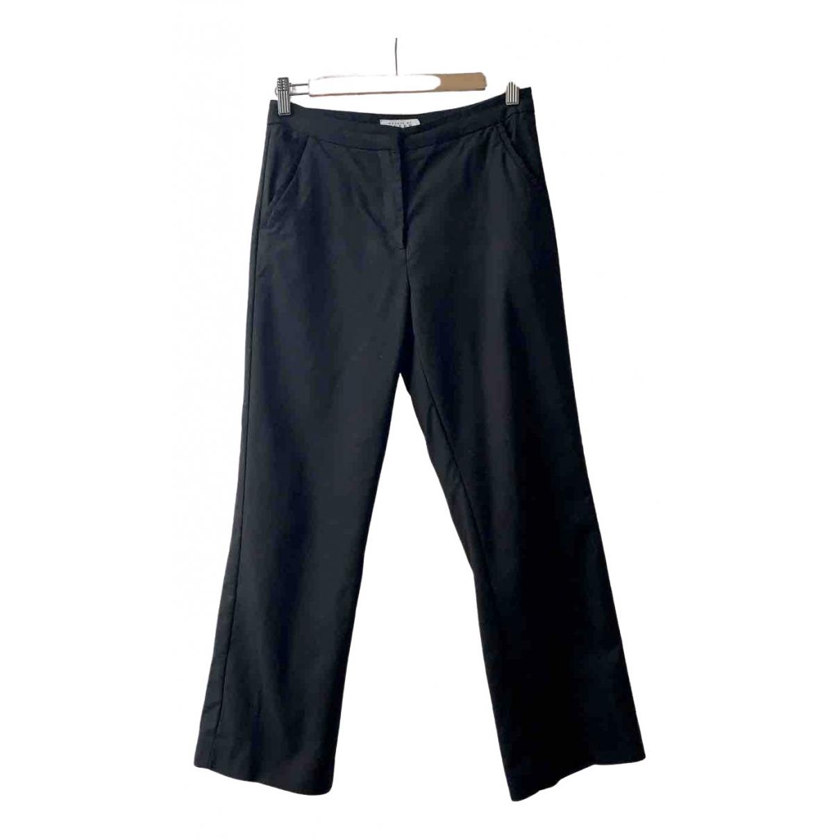 Preen \N Black Cotton Trousers for Women 8 UK